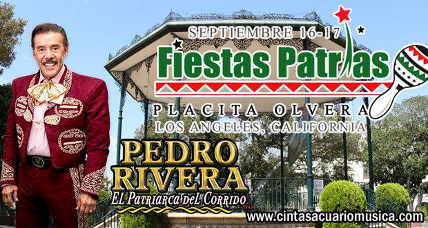 Fiestas Patrias 2017 en Los Angeles California Placita Olvera Pedro Rivera con Mariachi